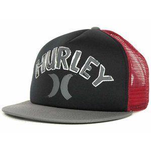 Hurley Foam Mesh Trucker Snapback Cap Hat